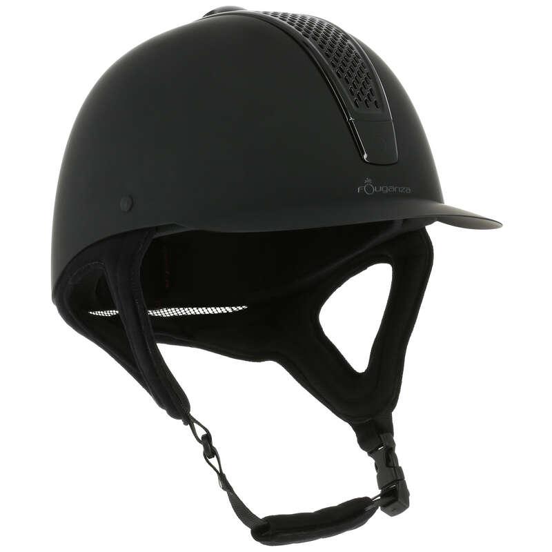 Protecţii călăreţ - Tocă Echitaţie C700 Negru Mat FOUGANZA