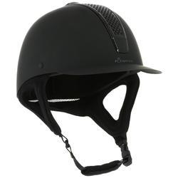 Paardrijcap C700 mat zwart