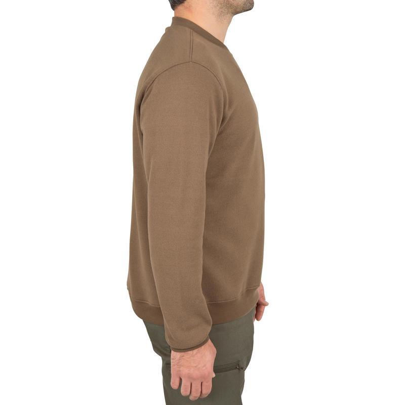 958f50615b8cc 100 hunting pullover - brown   Solognac