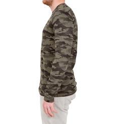 T-shirt Steppe 100 met lange mouwen camouflage Island - 41775