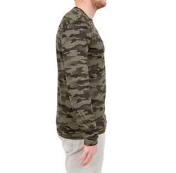 T-shirt Steppe 100 met lange mouwen camouflage Island - 41779