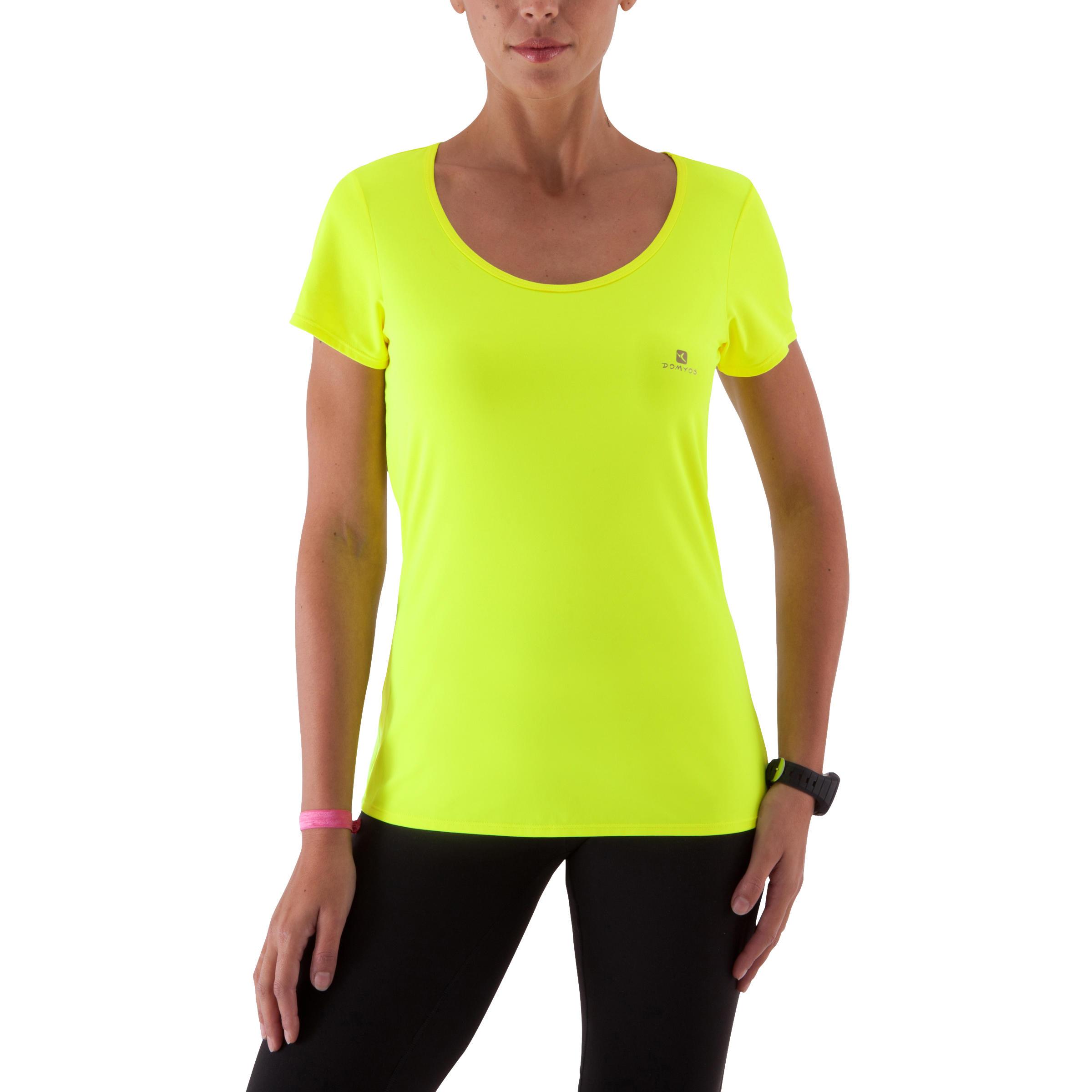 Fitness Jaune T Shirt Energy Fluo Femme tQhrdxsC