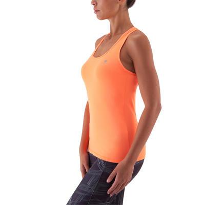 Débardeur MY TOP fitness femme orange fluo Energy