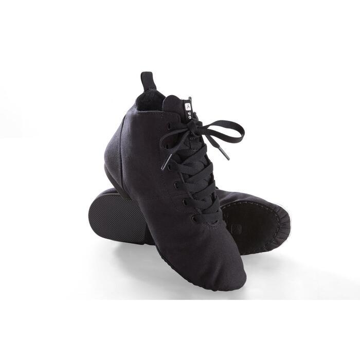 Hoge dansschoenen in canvas voor moderne dans zwart
