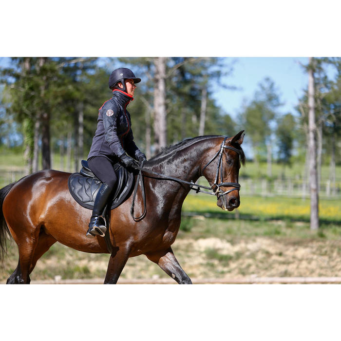 Guantes de equitación adulto KIPWARM negro