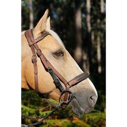 Bridon licol + rênes équitation cheval randonnée ESCAPE marron