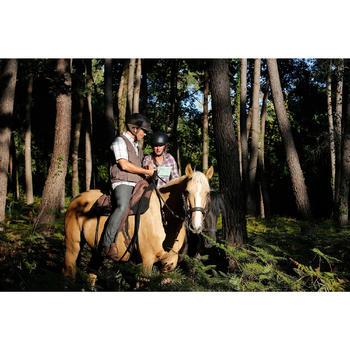 Bridon licol + rênes équitation randonnée ESCAPE marron - taille cheval - 419560
