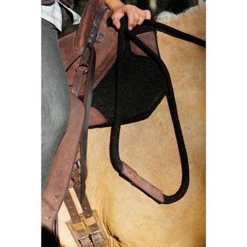 Bridon licol + rênes équitation randonnée ESCAPE marron - taille cheval - 419563