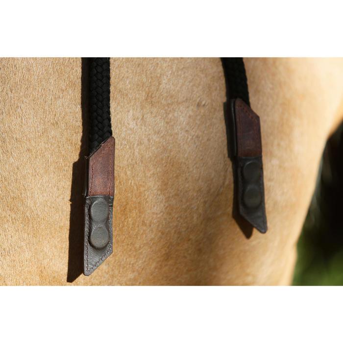 Bridon licol + rênes équitation randonnée ESCAPE marron - taille cheval - 419564