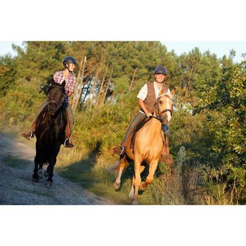 Bridon licol + rênes équitation randonnée ESCAPE marron - taille cheval - 419565