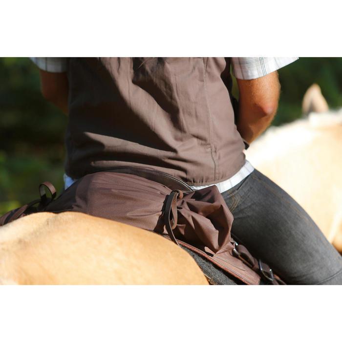 Selle équitation randonnée cheval ESCAPE marron - 420062