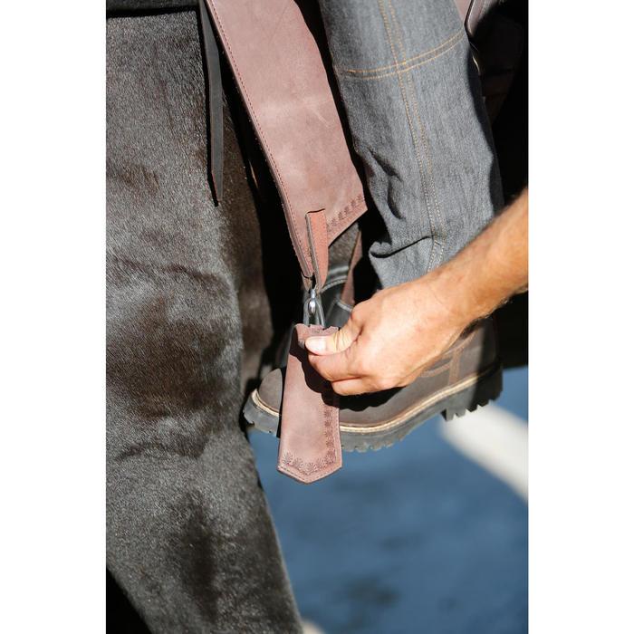 Silla Equitación Fouganza Escape Caballo Marrón para Travesía