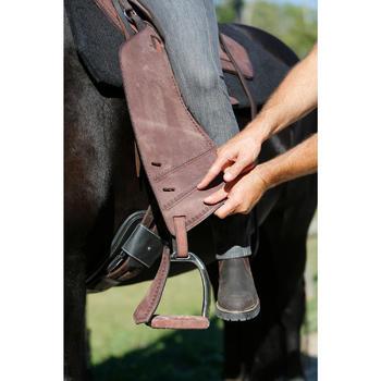 Selle équitation randonnée cheval ESCAPE marron - 420065