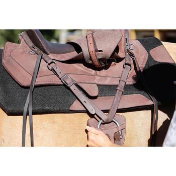 Selle équitation randonnée cheval ESCAPE marron - 420069