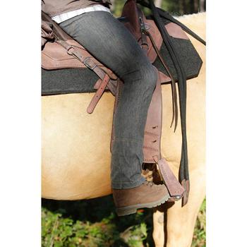 Selle équitation randonnée cheval ESCAPE marron - 420081