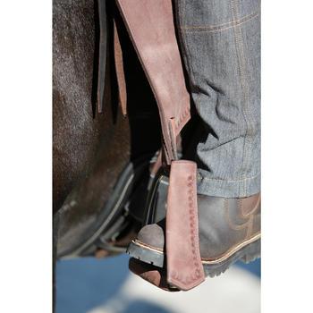 Selle équitation randonnée cheval ESCAPE marron - 420088