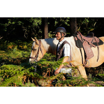 Selle équitation randonnée cheval ESCAPE marron - 420153