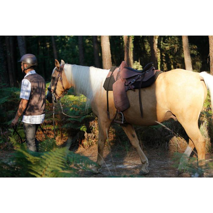 Selle équitation randonnée cheval ESCAPE marron - 420154