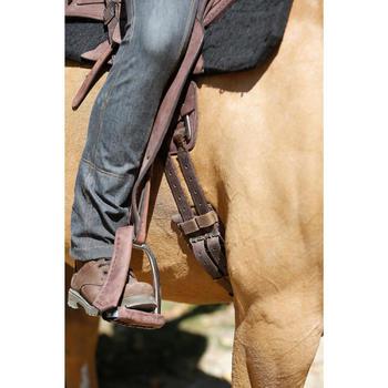 Selle équitation randonnée cheval ESCAPE marron - 420157