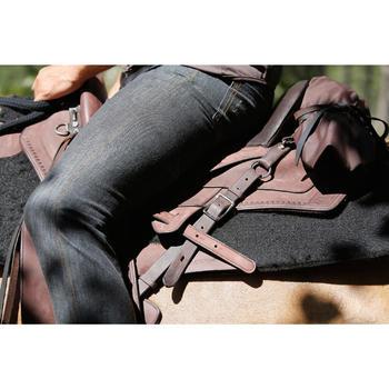 Selle équitation randonnée cheval ESCAPE marron - 420158