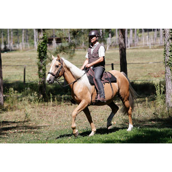 Ruiterzadel voor wandeltochten paard Escape bruin