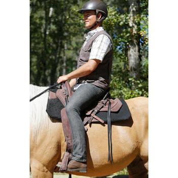 Selle équitation randonnée cheval ESCAPE marron - 420160