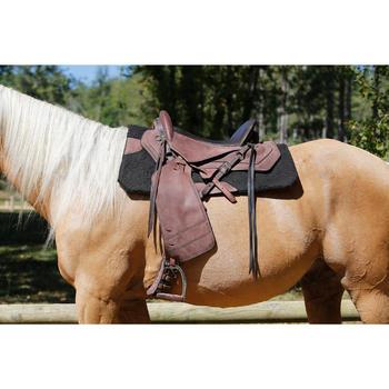 Selle équitation randonnée cheval ESCAPE marron - 420161