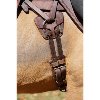 Selle équitation randonnée cheval ESCAPE marron - 420162