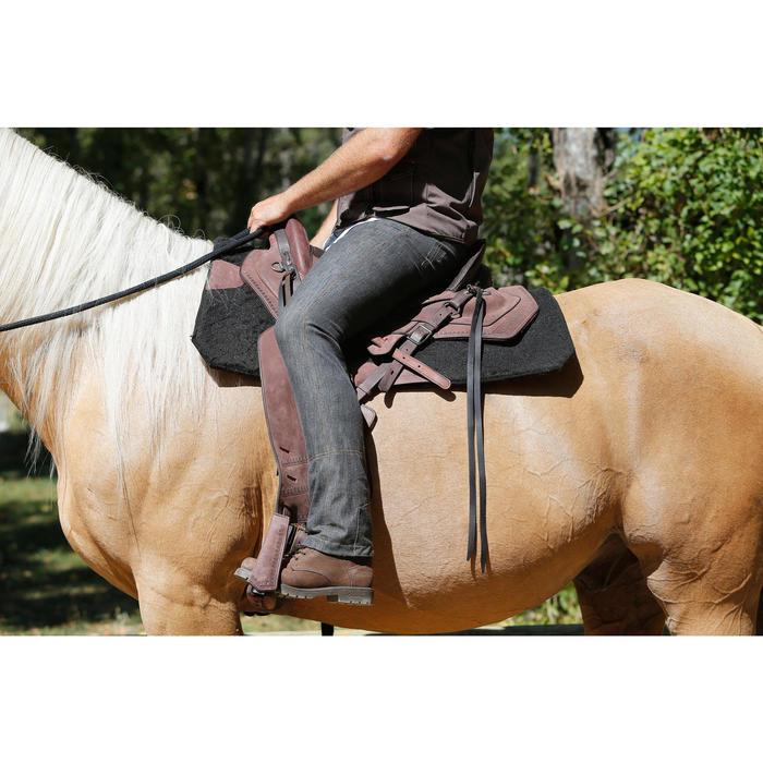 Selle équitation randonnée cheval ESCAPE marron - 420163