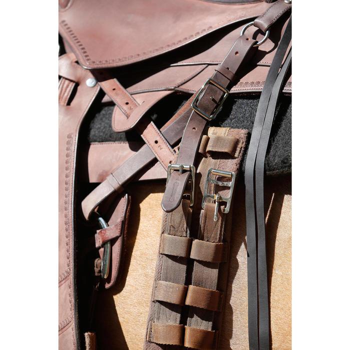 Selle équitation randonnée cheval ESCAPE marron - 420164