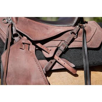 Selle équitation randonnée cheval ESCAPE marron - 420165