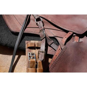 Selle équitation randonnée cheval ESCAPE marron - 420166