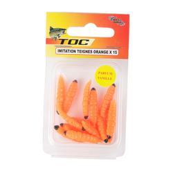 Aas voor forelvissen in vijvers imitatiemaden oranje x15