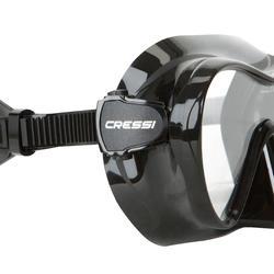 Duikmasker F1 Cressi zwart frameless - 420183
