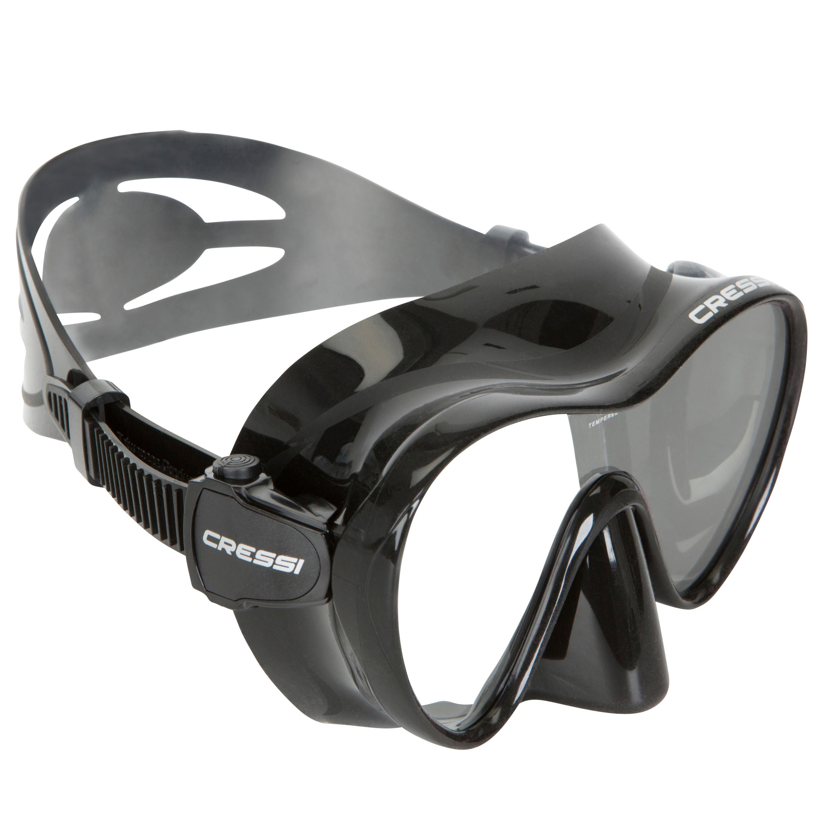 Cressi Duikbril F1 Cressi zwart frameless kopen? Leest dit eerst: Duikmasker en snorkel Duikmasker met korting