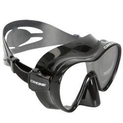 Máscara de submarinismo F1 Cressi negro frameless