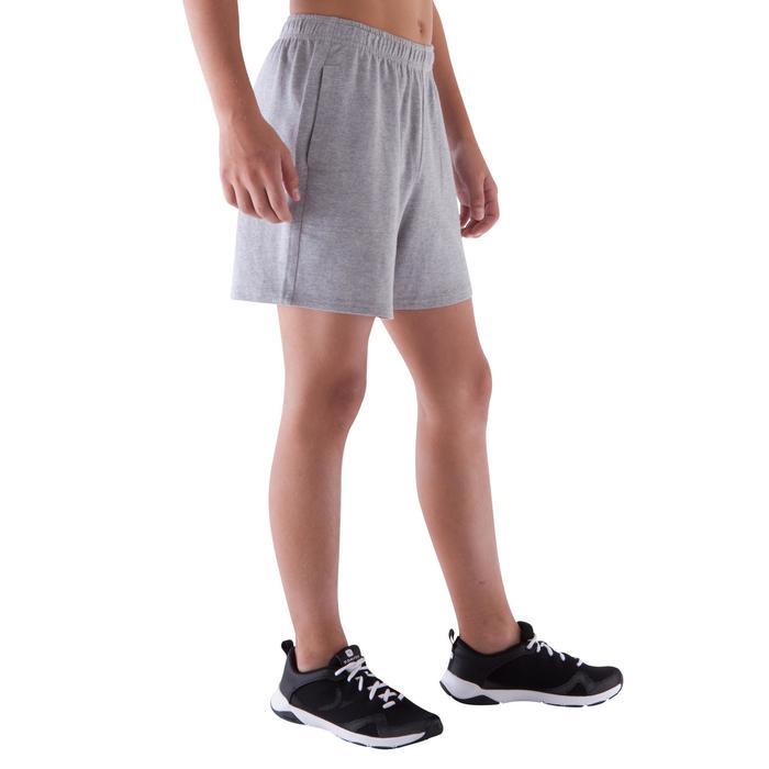 Short de gimnasia niño gris