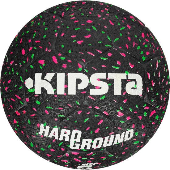 Voetbal Hardground maat 5 zwart groen roze - 42031