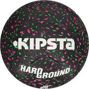 Balón de fútbol Hardground talla 5 negro verde rosa