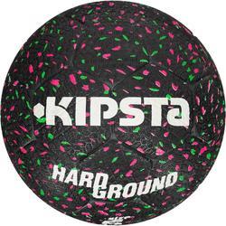 Voetbal Hardground maat 5 zwart groen roze