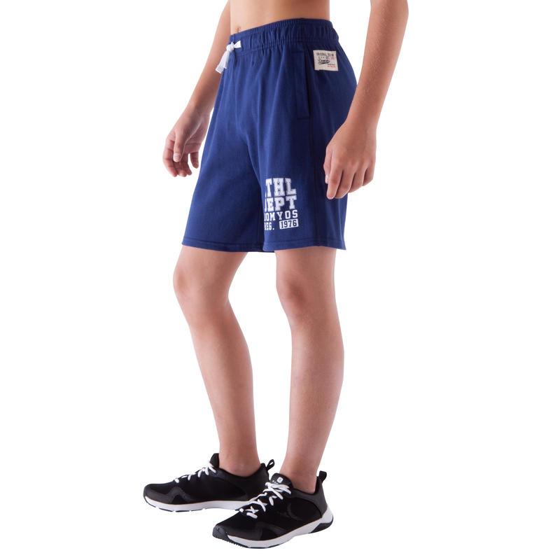 Bermuda gym garçon bleu fonçé