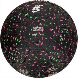Voetbal Hardground maat 5 zwart groen roze - 42035