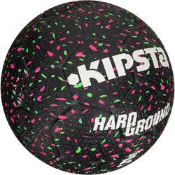 Balón de Fútbol Kipsta Hardground talla 5 negro verde y rosa