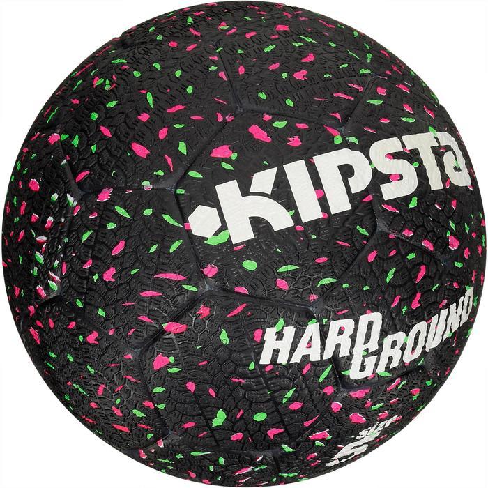 Ballon de football Hardground taille 5 noir vert rose - 42036