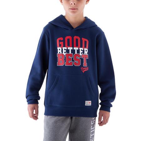 Boys' Gym Hooded Sweatshirt - Navy Blue