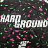 Voetbal Hardground maat 5 zwart groen roze - 42042