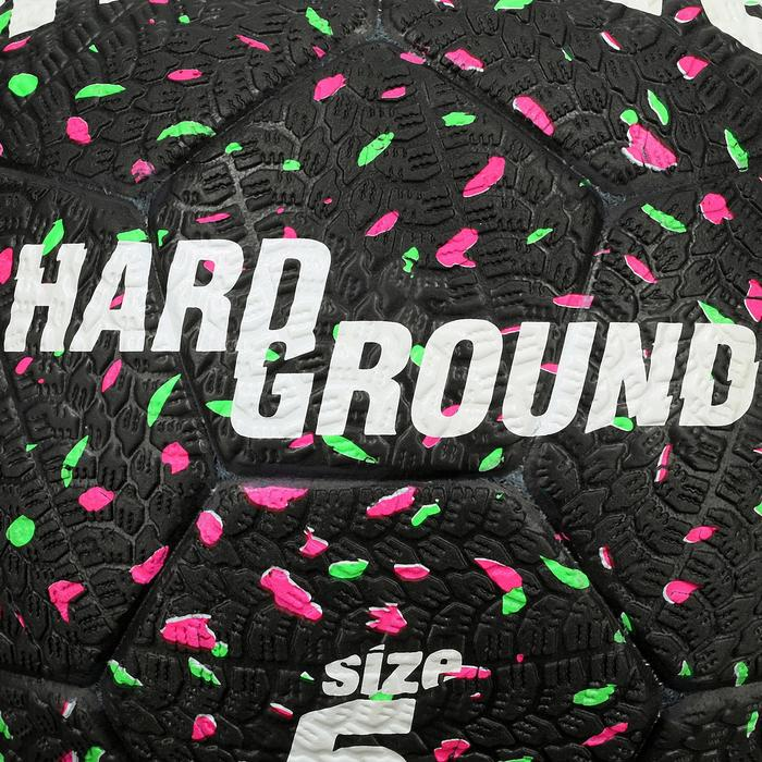 Ballon de football Hardground taille 5 noir vert rose - 42042