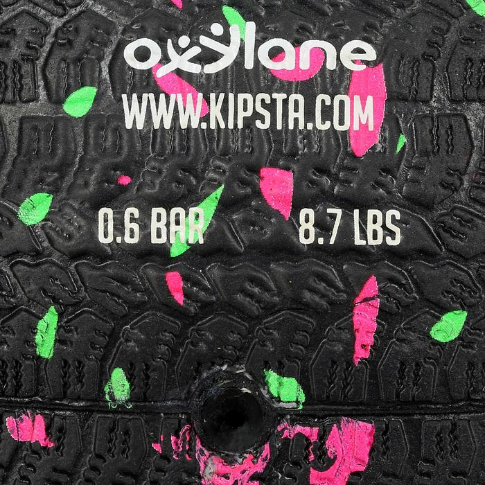 Ballon de football Hardground taille 5 noir vert rose - 42045