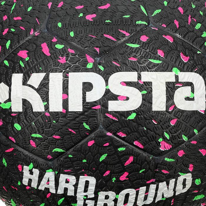 Ballon de football Hardground taille 5 noir vert rose - 42051