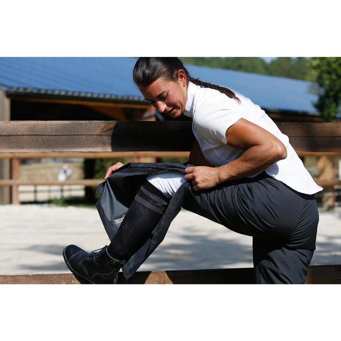 Sur pantalon imperméable équitation 500 2en1 noir - 420990